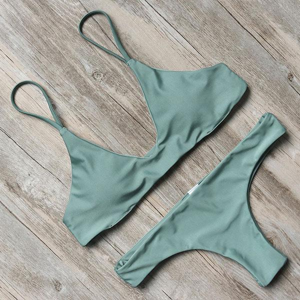 Bikini N' Waves: Two Piece Swimsuit - Indonesia Solid Padded Bikini Set
