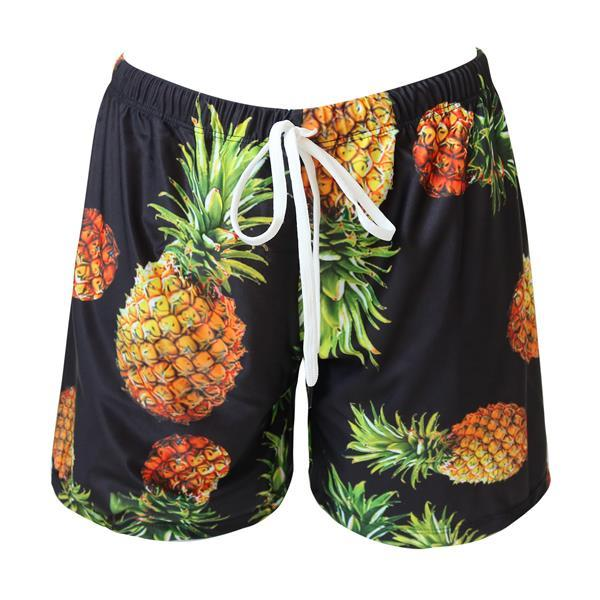 Bikini N' Waves: Men's Shorts - Havana Pineapple Shorts