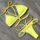 Bikini N' Waves: Two Piece Swimsuit - Dubrovnik Exotic Brazillian Bikini Set