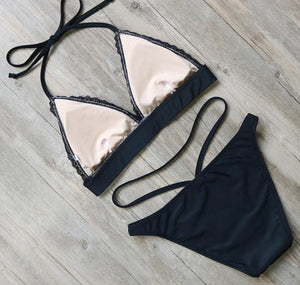 Bikini N' Waves: Two Piece Swimsuit - Pattaya Sexy Lace Bikini Set