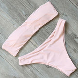 Bikini N' Waves: Two Piece Swimsuit - Monte Carlo Bandeau Bikini Set