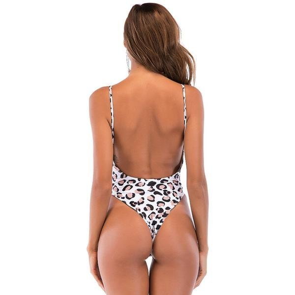 Havana Leopard Backless Monokini