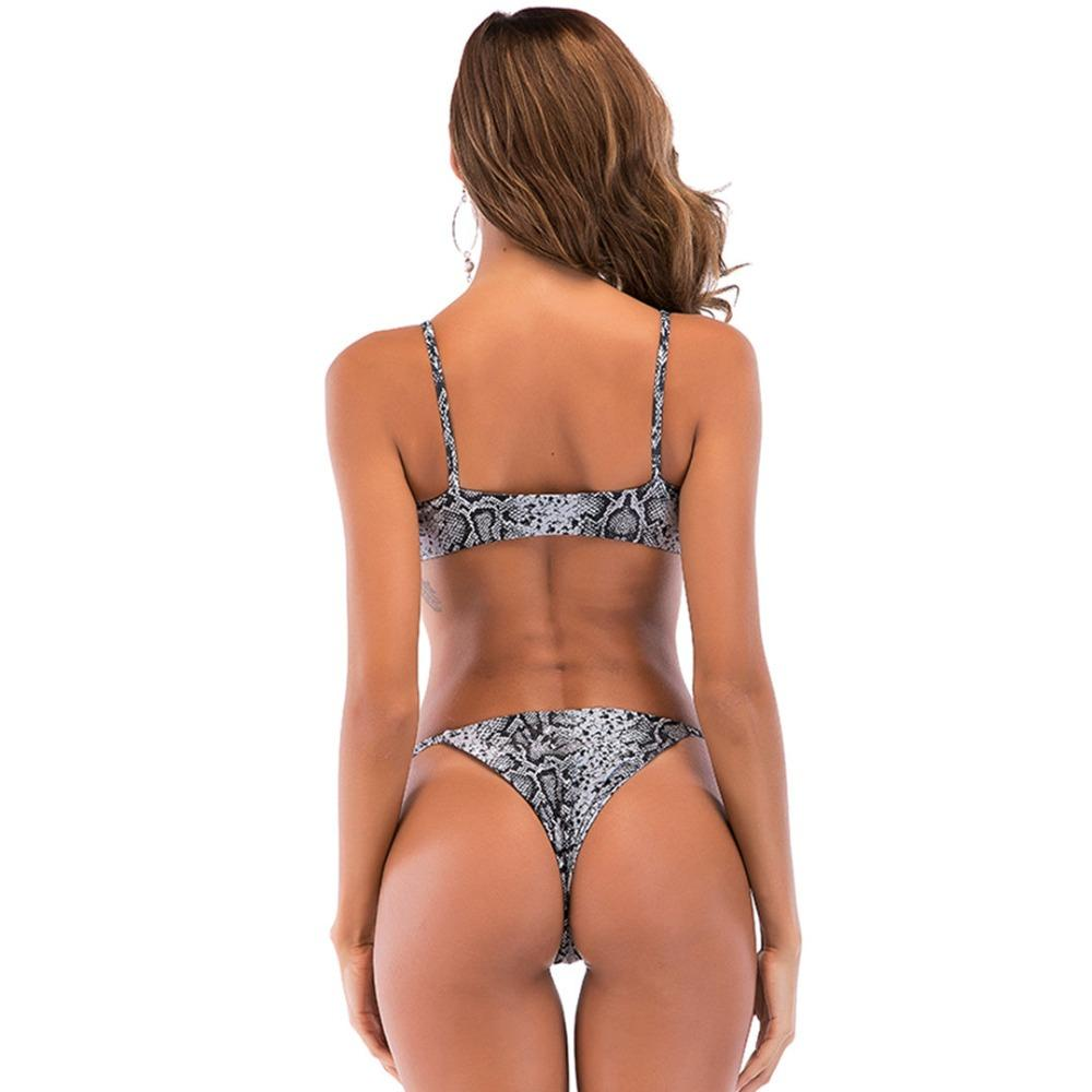 Bikini N' Waves: Two Piece Swimsuit - Perth Snake Skin Bikini Set