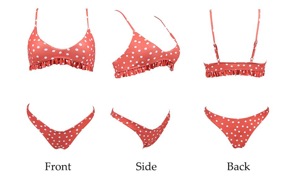 Bikini N' Waves: Two Piece Swimsuit - Iguazu Polka Dot Bikini Set