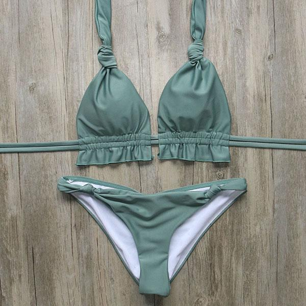 Bikini N' Waves: Two Piece Swimsuit - Vegas Halter Bandage Bikini Set