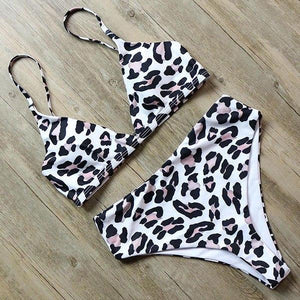 Bikini N' Waves: Two Piece Swimsuit - Seattle High Waist Leo Bikini Set