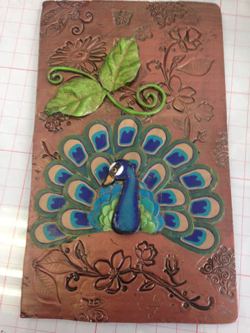 Refillable Peacock Polymer Clay Journal