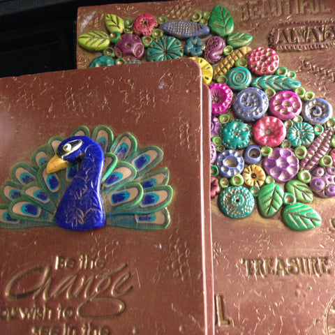 Small Refillable Peacock Journal