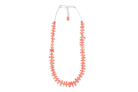 Heather Necklace - Salmon Bamboo Coral