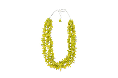 Lilly Necklace - Green Cupolini Coral
