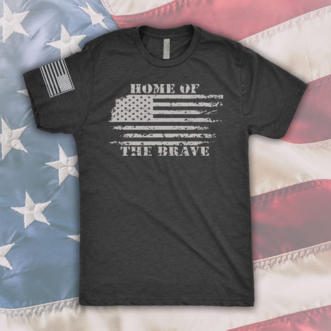 Home of the Brave Unisex Crew Cut T-Shirt