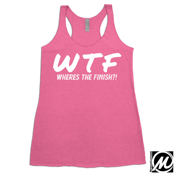 01273bca WTF Where's the Finish Women's Running Workout Tank Top – mpressclothing