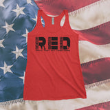 RED Friday Flag Remember Everyone Deployed T-Shirt or Tank Top Support our Troops Military