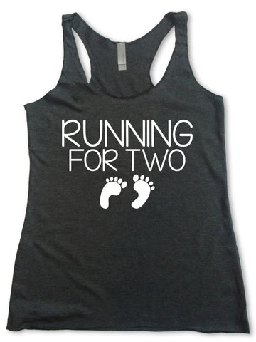 0f77bf24904e0 Women's Racerback Tank Top- Running For Two ...