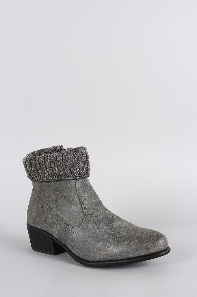 Dollhouse Western Flair Sweater Cuff Booties