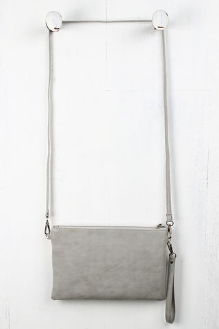 Stitched Convertible Crossbody Clutch