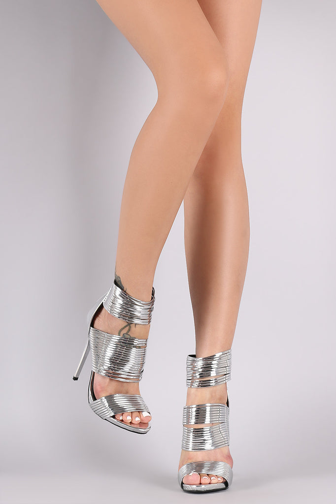 Liliana Patent Strappy Tassel Stiletto Heel