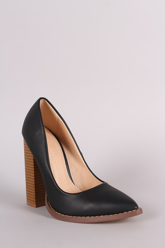 Liliana Pointy Toe Chunky Heeled Pump