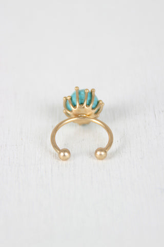 Turquoise Stone Open Band Ring