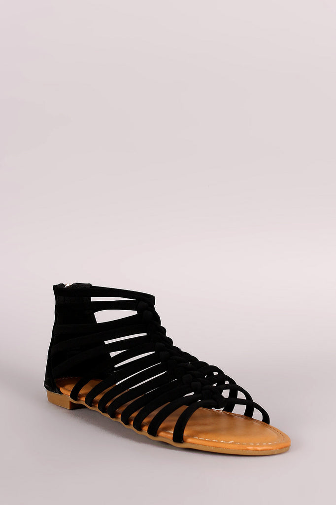 Bamboo Strappy Knotted Gladiator Sandal