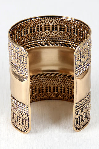 Royalty Etched Cuff Bracelet
