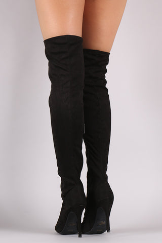 Anne Michelle Corset Embellished Fitted OTK Boots