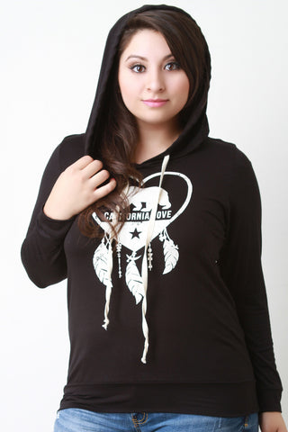 California Love and Dreaming Hooded Long Sleeve Tee