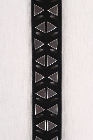 Triangles and Cut Outs Vegan Suede Belt