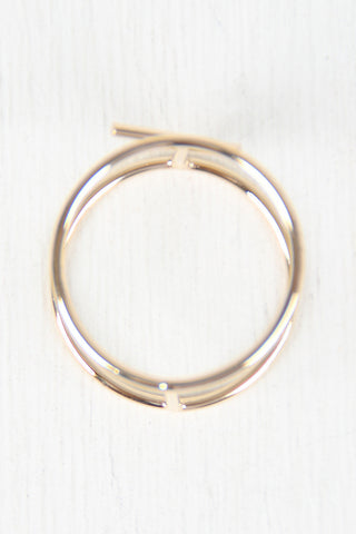 Double Band Parallel Bar Ring