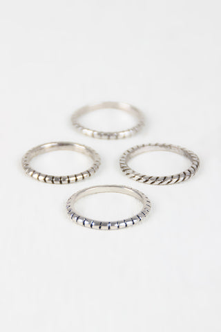 Rope Etched Multi Rings