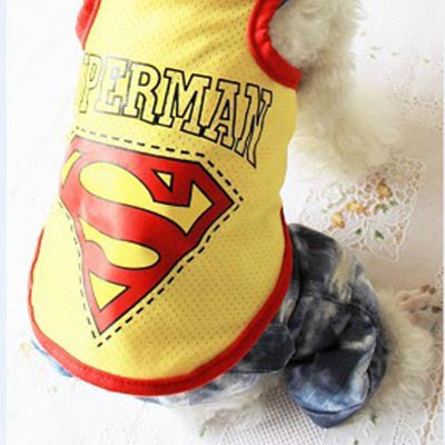 Superman Dog Vest T-shirt
