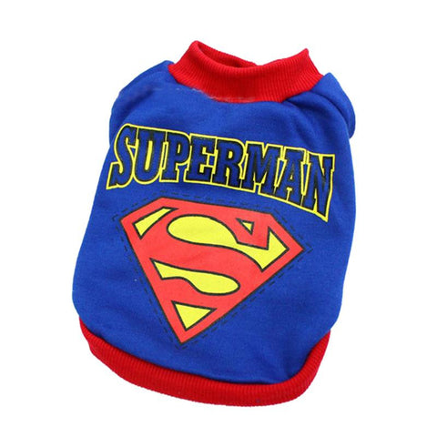 Superman or Spiderman Dog Shirt