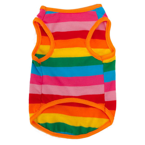 Rainbow Stripe Dog Shirt