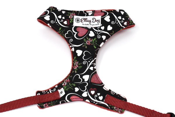 Hearts 'N Roses Over-The-Head Harness