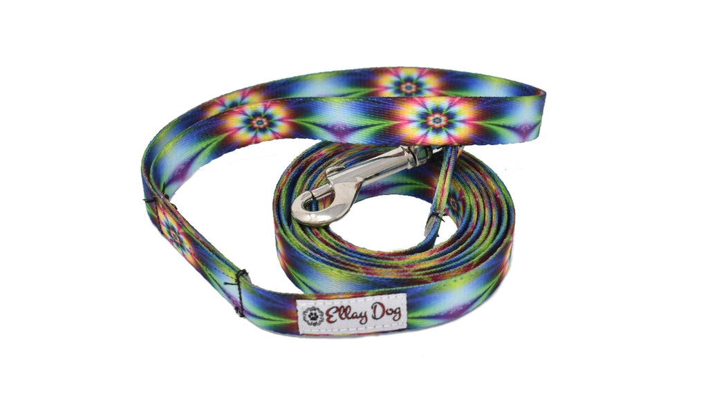 Tie Dye Flower Leash