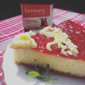 Cheesecake with Sorrel Jam Topping