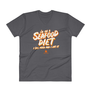 Seafood Diet V-Neck T-Shirt