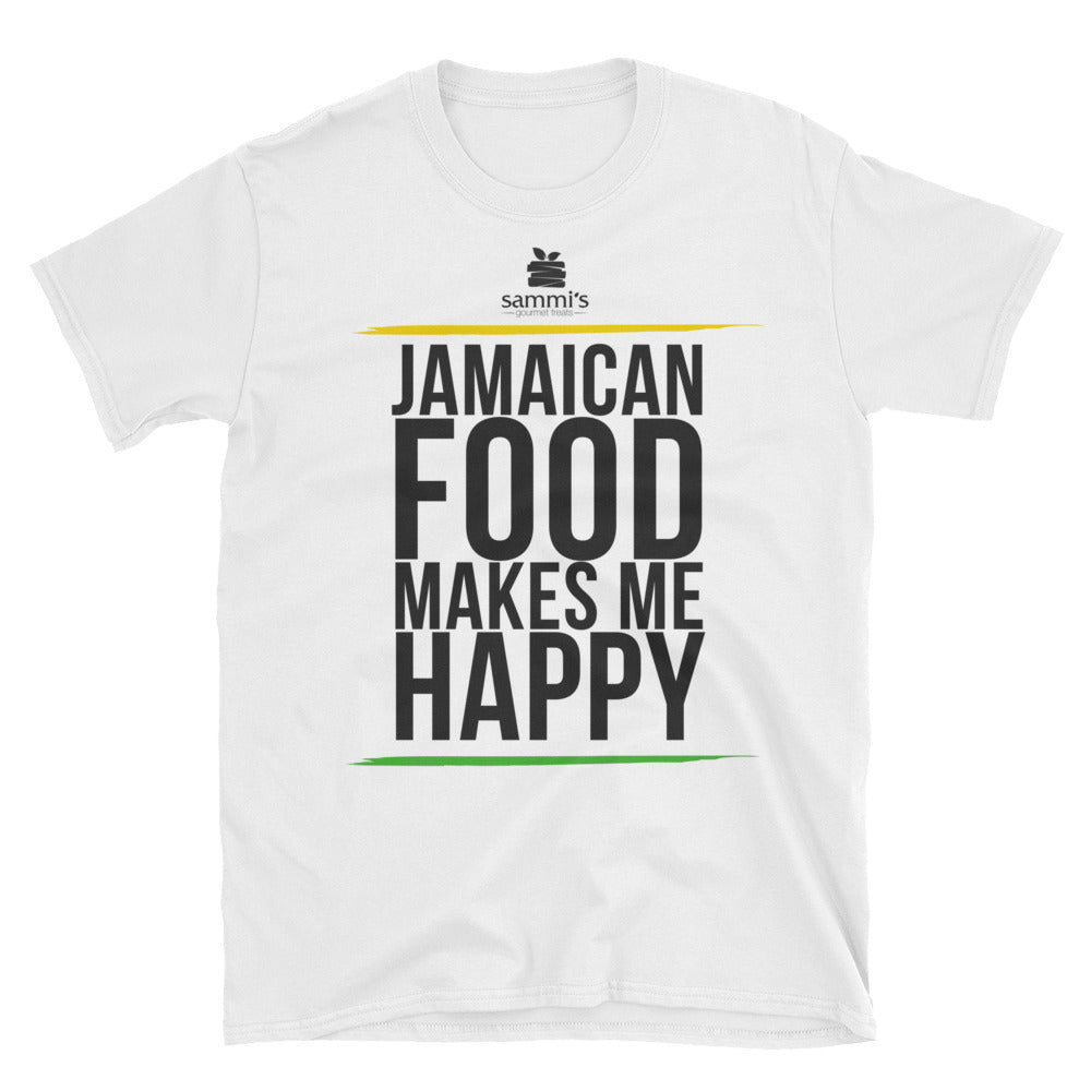 Jamaican Food Makes Me Happy Short-Sleeve Unisex T-Shirt