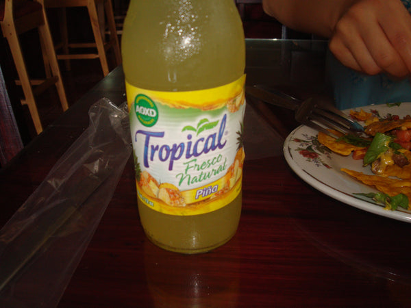 tropical beverage in San Marcos de Tarrazu, Costa Rica