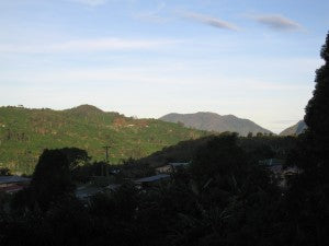cool morning in the mountains of Tarrazu costa rica