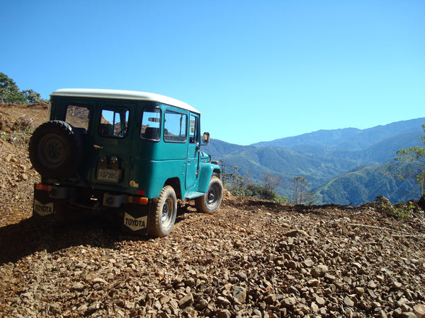 Rural car in the highlands of Tarrazu, Costa Rica