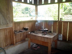 fogon in costa rica - wood stove