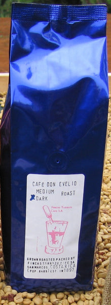 DON EVELIO COSTA RICA TARRAZU COFFEE - DARK ROAST - WHOLE BEAN