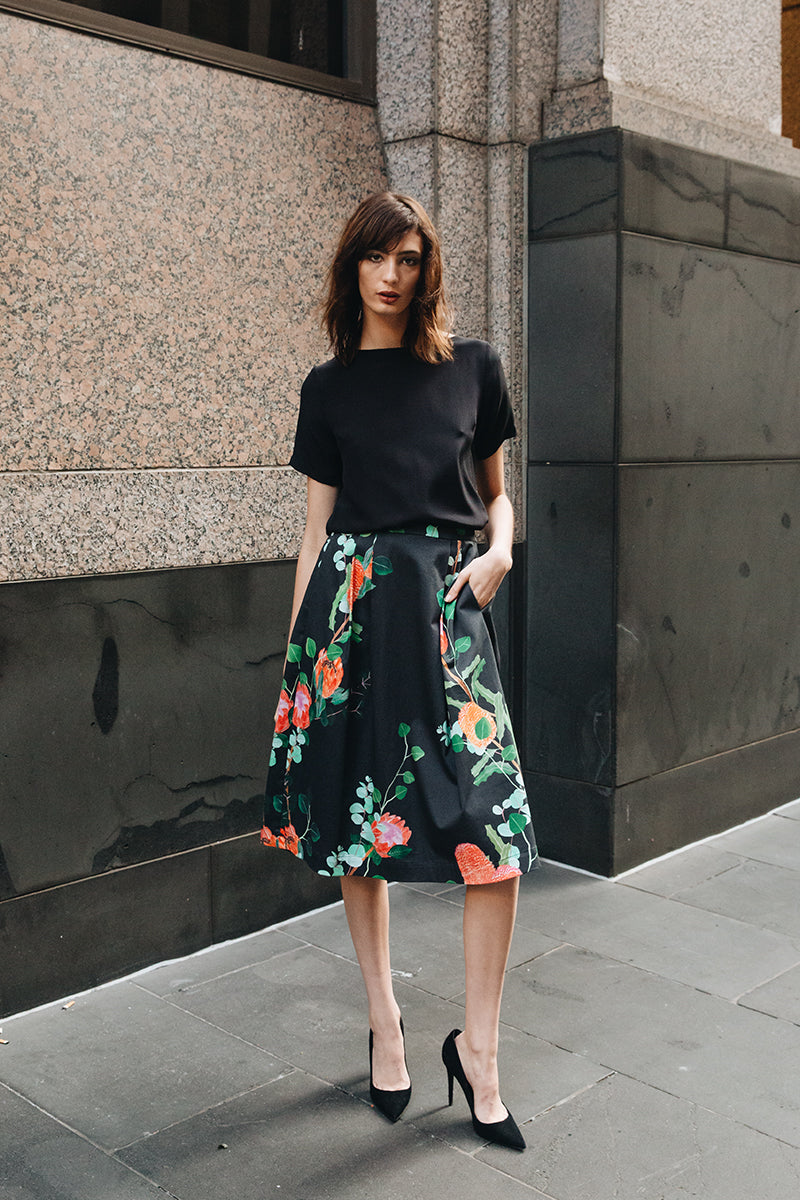 Margot Skirt - Native Blooms