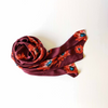 Maroon Bloom Silk Scarf