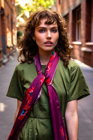 Neon Lights Silk Scarf