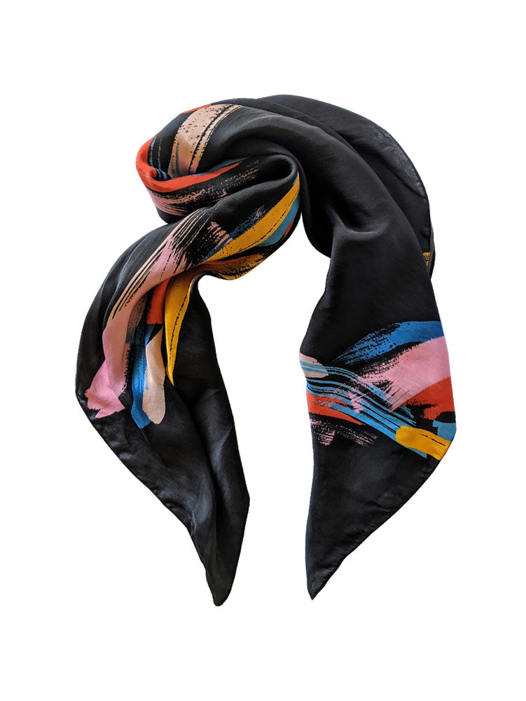 Electric Heart Silk Scarf