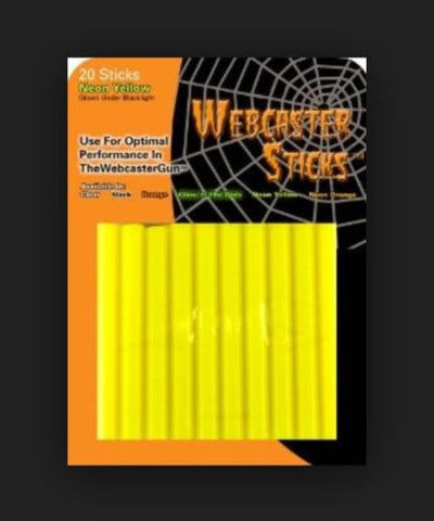 Webcaster Neon Yellow Refill Sticks - Web Cobweb