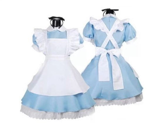 New Alice in Wonderland anime cosplay costume lolita dresses maid outfit