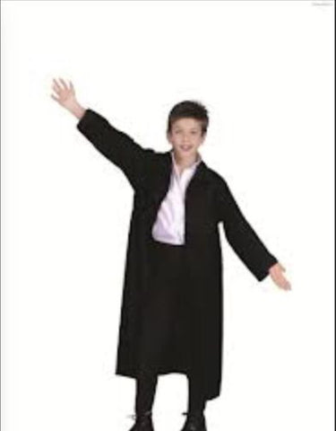 Childs Black Coat Magician Costume